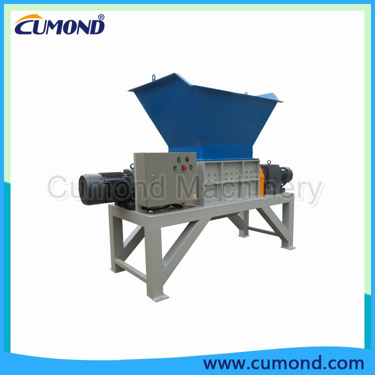 7.5KW Low Speed Twin Shaft Waste Tire Shredder, Used Tire Crusher, Tire Shredding Machine